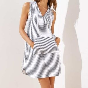 LOFT Beach Striped Hooded Coverup